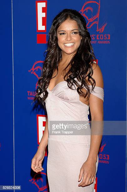 Michelle Rodriguez arrives at the 5th Annual Taurus World Stunt Awards held at Paramount Studios