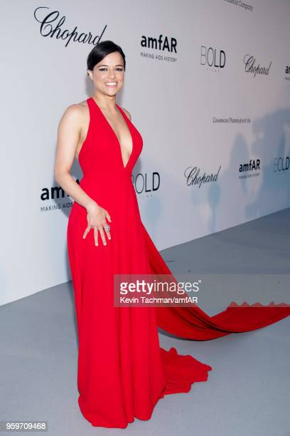 Michelle Rodriguez arrives at the amfAR Gala Cannes 2018 at Hotel du CapEdenRoc on May 17 2018 in Cap d'Antibes France