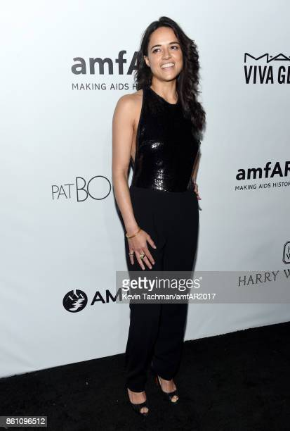 Michelle Rodriguez at amfAR Los Angeles 2017 at Ron Burkle's Green Acres Estate on October 13 2017 in Beverly Hills Californi