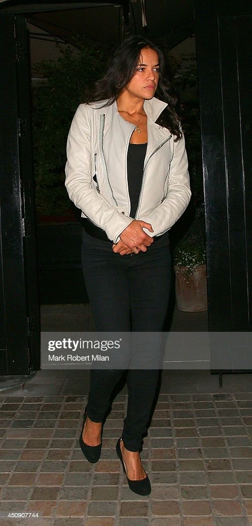 Michelle Rodriguez at the Chiltern Firehouse on June 19, 2014 in London, England.