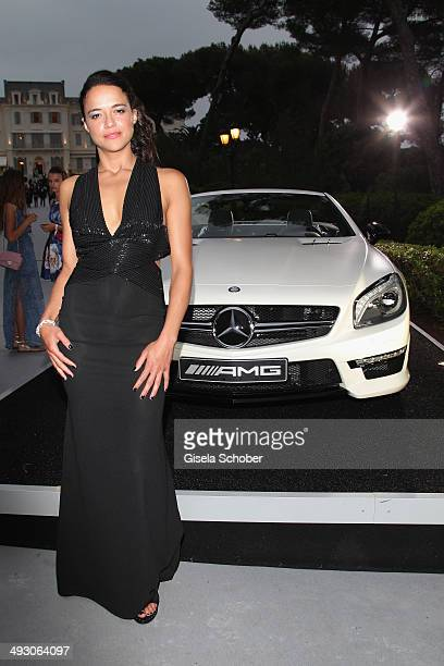 Michelle Rodriguez attends amfAR's 21st Cinema Against AIDS Gala Presented By WORLDVIEW BOLD FILMS And BVLGARI at Hotel du CapEdenRoc on May 22 2014...
