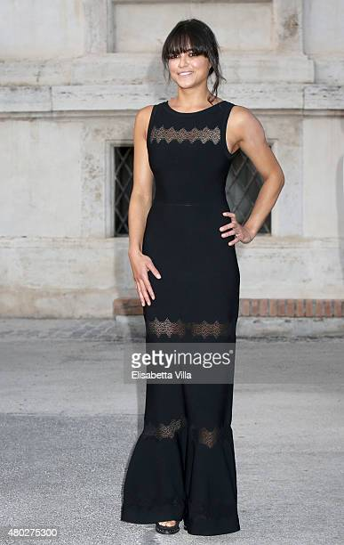 Michelle Rodriguez attends 'Couture / Sculpture' Vernissage Cocktail honoring Azzedine Alaia in the history of fashion as part of AltaRoma AltaModa...