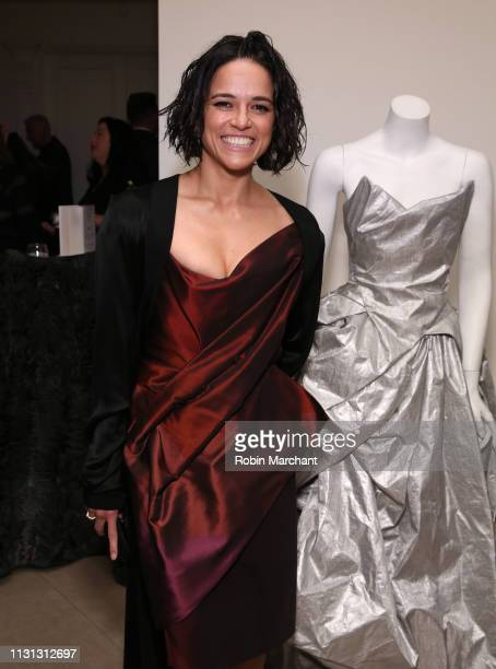 Michelle Rodriguez attends Suzy Amis Cameron's 10Year Anniversary Of RCGD Celebration on February 21 2019 in Beverly Hills California