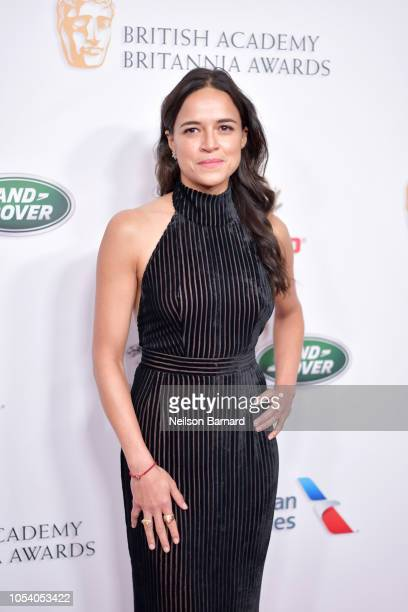 Michelle Rodriguez attends the 2018 British Academy Britannia Awards presented by Jaguar Land Rover and American Airlines at The Beverly Hilton Hotel...