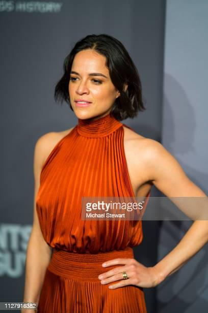 Michelle Rodriguez attends the 2019 amfAR New York Gala at Cipriani Wall Street on February 06 2019 in New York City