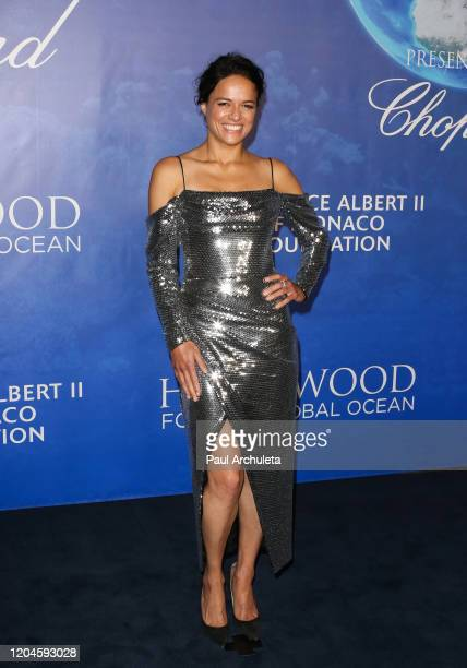 Michelle Rodriguez attends the 2020 Hollywood For The Global Ocean Gala honoring HSH Prince Albert II Of Monaco at Palazzo di Amore on February 06...