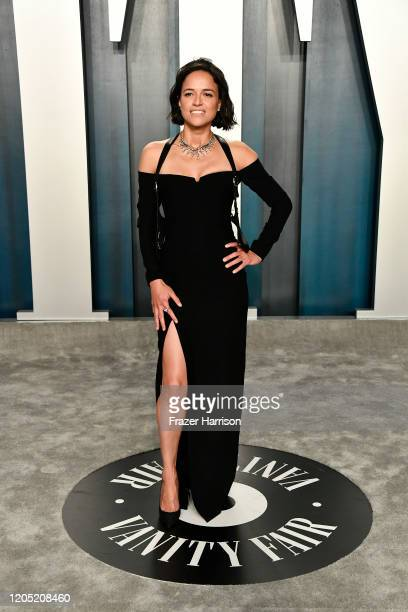 Michelle Rodriguez attends the 2020 Vanity Fair Oscar Party hosted by Radhika Jones at Wallis Annenberg Center for the Performing Arts on February 09...