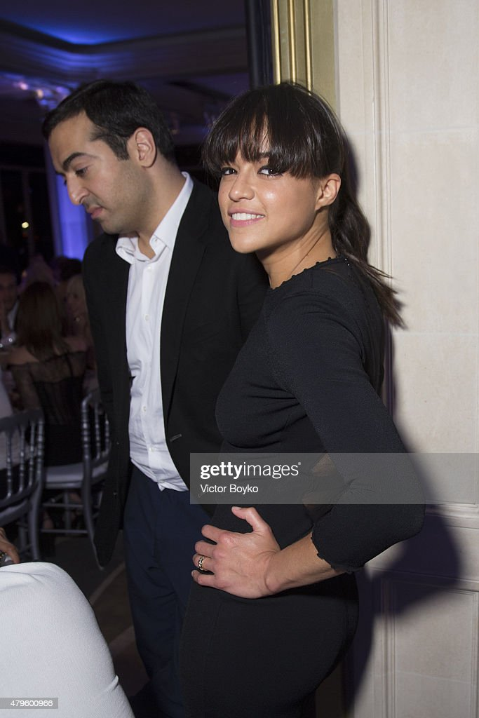 Michelle Rodriguez attends the amfAR dinner at the Pavillon LeDoyen during the Paris Fashion Week Haute Couture on July 5, 2015 in Paris, France.