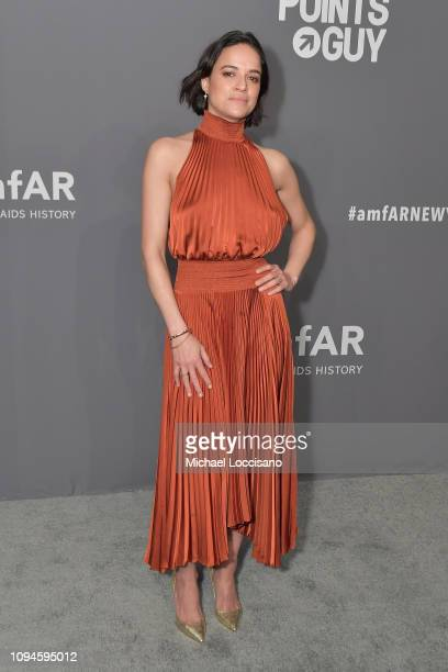 Michelle Rodriguez attends the amfAR New York Gala 2019 at Cipriani Wall Street on February 6 2019 in New York City
