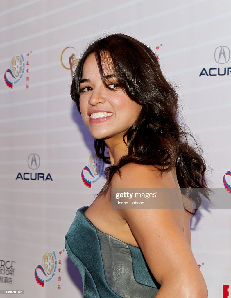 Michelle Rodriguez attends the Chinese American Film Festival Opening Ceremony and Gold Angel Awards Ceremony at The Ricardo Montalban Theatre on November 3, 2015 in Hollywood, California.
