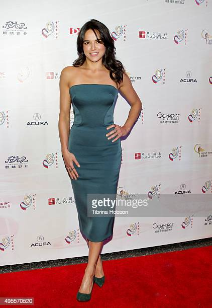 Michelle Rodriguez attends the Chinese American Film Festival Opening Ceremony and Gold Angel Awards Ceremony at The Ricardo Montalban Theatre on...