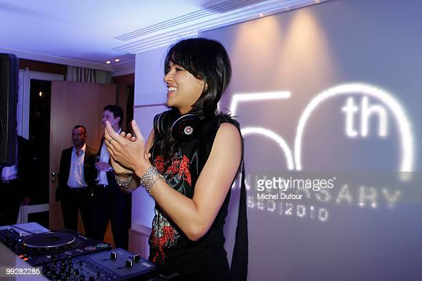 Michelle Rodriguez attends the Chopard Trophy party at the Hotel Martinez during the 63rd Annual Cannes Film Festival on May 13 2010 in Cannes France