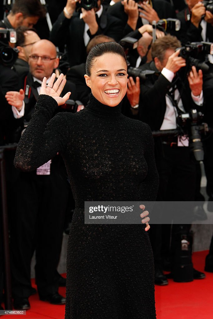 Michelle Rodriguez attends the closing ceremony and 'Le Glace Et Le Ciel' ('Ice And The Sky') premiere during the 68th annual Cannes Film Festival on May 24, 2015 in Cannes, France.