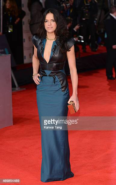 Michelle Rodriguez attends the EE British Academy Film Awards 2014 at The Royal Opera House on February 16 2014 in London England