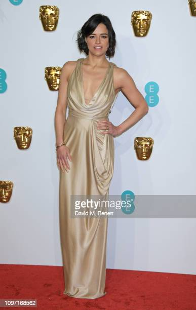 Michelle Rodriguez attends the EE British Academy Film Awards at Royal Albert Hall on February 10, 2019 in London, England.