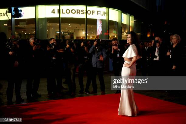 """Michelle Rodriguez attends the European Premiere of """"Widows"""" and opening night gala of the 62nd BFI London Film Festival on October 10, 2018 in..."""