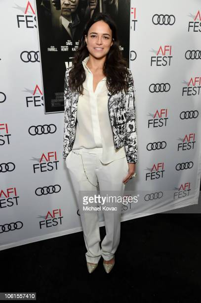 Michelle Rodriguez attends the gala screening of 'Widows' during AFI FEST 2018 at the TCL Chinese Theatre on November 14 2018 in Los Angeles...