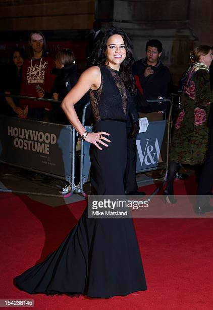 Michelle Rodriguez attends the Hollywood Costume gala dinner at Victoria Albert Museum on October 16 2012 in London England