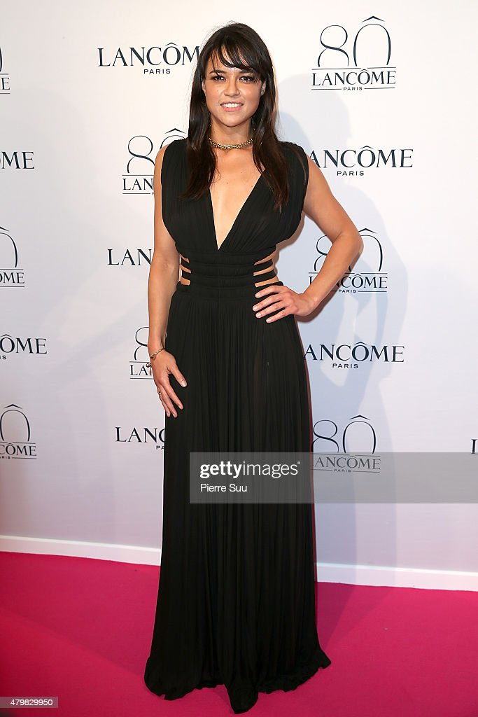 Michelle Rodriguez attends the Lancome 80th Anniversary Party as part of Paris Fashion Week Haute Couture Fall/Winter 2015/2016 on July 7, 2015 in Paris, France.