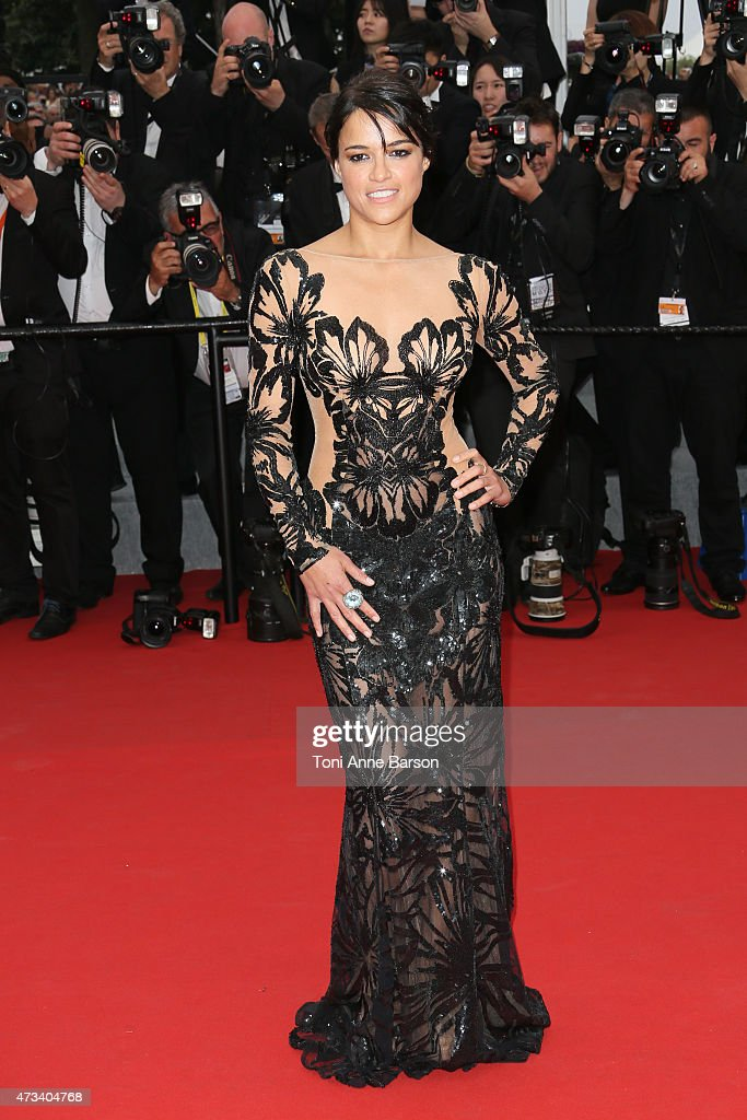 Michelle Rodriguez attends the 'Mad Max: Fury Road' premiere during the 68th annual Cannes Film Festival on May 14, 2015 in Cannes, France.