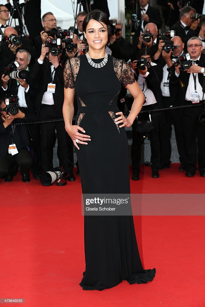 Michelle Rodriguez attends the Premiere of 'Irrational Man' during the 68th annual Cannes Film Festival on May 15, 2015 in Cannes, France.