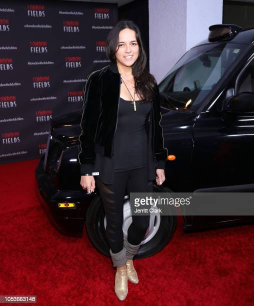 Michelle Rodriguez attends the premiere of London Fields at The London West Hollywood on October 25 2018 in West Hollywood California