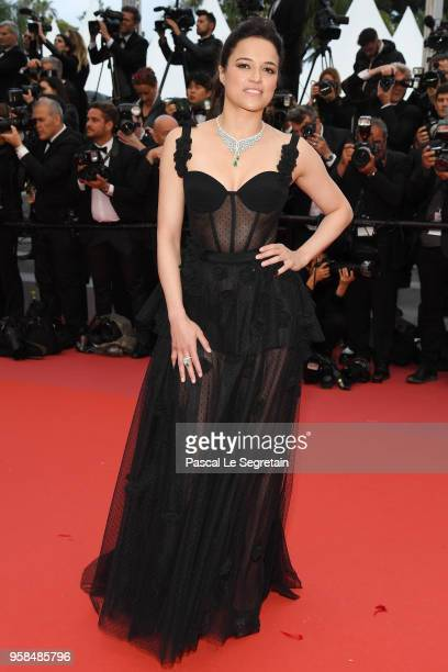Michelle Rodriguez attends the screening of BlacKkKlansman during the 71st annual Cannes Film Festival at Palais des Festivals on May 14 2018 in...