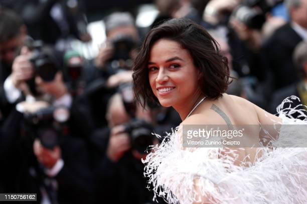 Michelle Rodriguez attends the screening of Once Upon A Time In Hollywood during the 72nd annual Cannes Film Festival on May 21 2019 in Cannes France