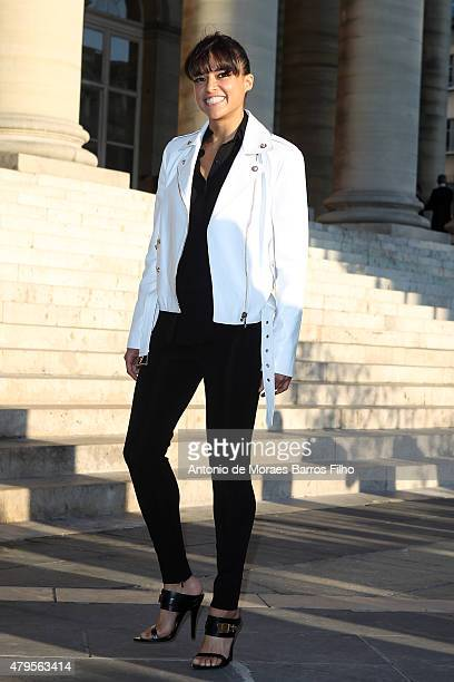 Michelle Rodriguez attends the Versace show as part of Paris Fashion Week Haute Couture Fall/Winter 2015/2016 on July 5 2015 in Paris France