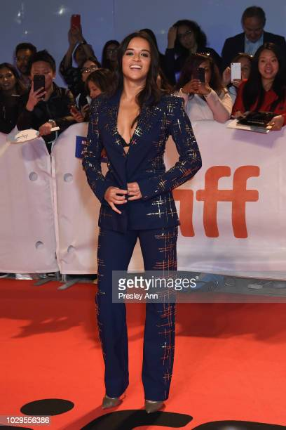Michelle Rodriguez attends the Widows premiere during 2018 Toronto International Film Festival at Roy Thomson Hall on September 8 2018 in Toronto...