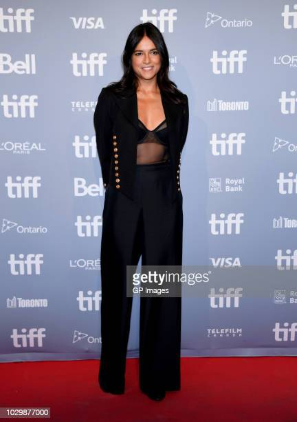 """Michelle Rodriguez attends the """"Widows"""" press conference during 2018 Toronto International Film Festival at TIFF Bell Lightbox on September 9, 2018..."""