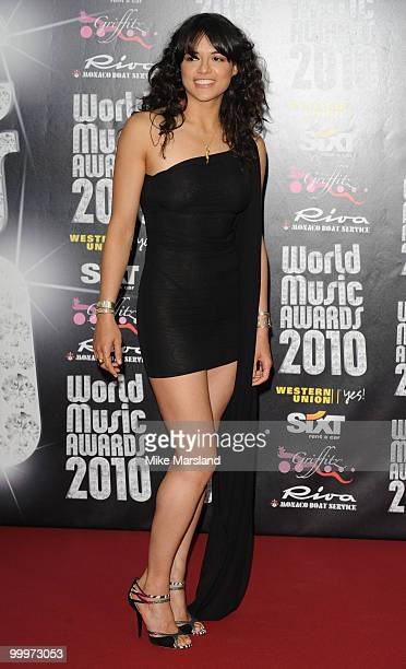Michelle Rodriguez attends the World Music Awards 2010 at the Sporting Club on May 18 2010 in Monte Carlo Monaco