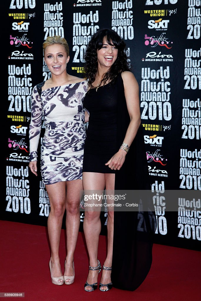 Michelle Rodriguez attends the 'World Music Awards 2010 - show' at the Sporting Club on May 18, 2010 in Monte Carlo, Monaco.