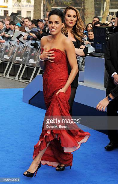 Michelle Rodriguez attends the World Premiere of 'Fast Furious 6' at Empire Leicester Square on May 7 2013 in London England