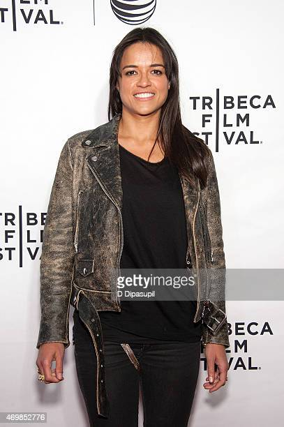 Michelle Rodriguez attends the world premiere of Live From New York during the 2015 Tribeca Film Festival at The Beacon Theatre on April 15 2015 in...