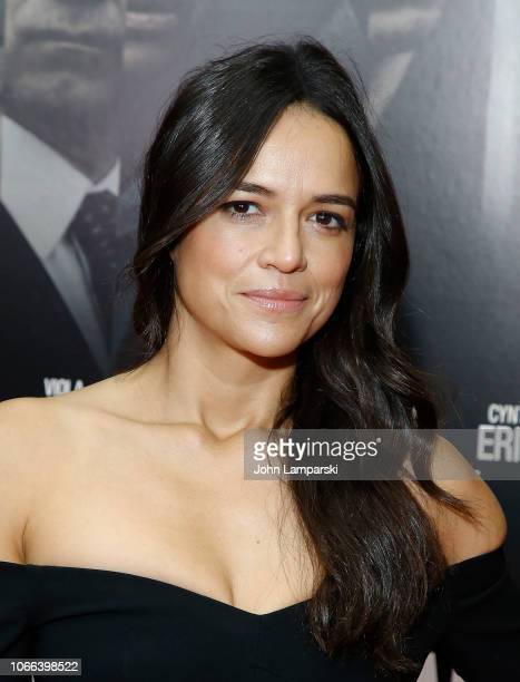 Michelle Rodriguez attends Widows New York Special Screening at Brooklyn Academy of Music on November 11 2018 in New York City