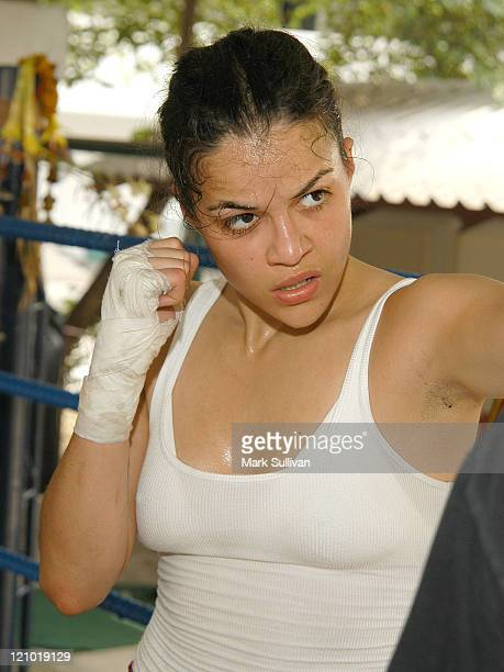 Michelle Rodriguez during 2004 Bangkok International Film Festival Michelle Rodriguez Kick Boxing at Light Infantry First Platoon Fourth Battalion...