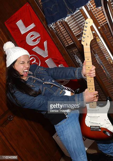 Michelle Rodriguez during 2005 Park City Levi's Ranch at Levi's House in Park City Utah United States