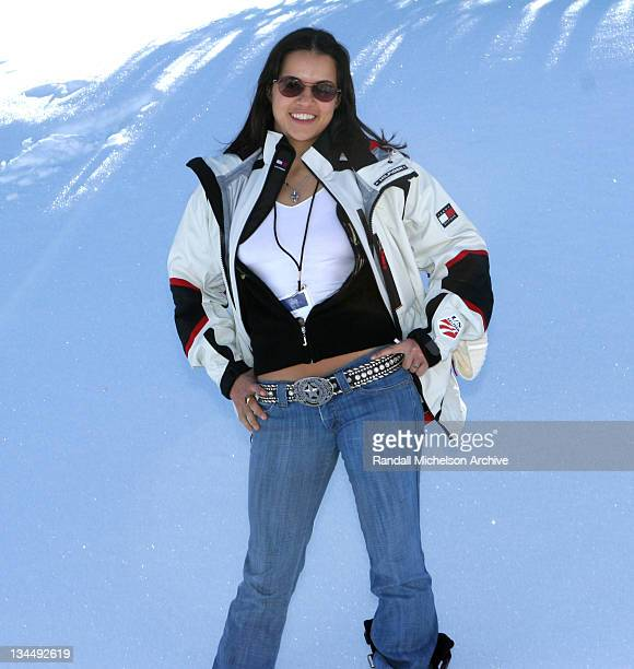 Michelle Rodriguez during 2005 Sundance Film Festival Michelle Rodriguez Outdoor Portraits at Park City in Park City Utah United States