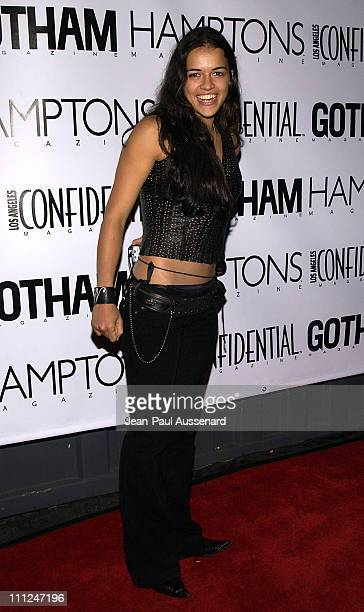 Michelle Rodriguez during LA Confidential Emmy / Fall Fashion Cover Party at Shelter Supper Club in West Hollywood California United States