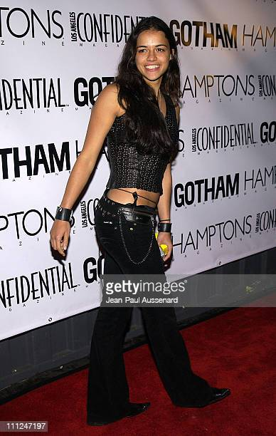 Michelle Rodriguez during LA Confidential Emmy / Fall Fashion Cover Party at Shelter Supper Club in West Hollywood, California, United States.