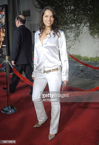 Michelle Rodriguez during Hustle Flow Los Angeles Premiere Arrivals at Cinerma Dome in Los Angeles California United States
