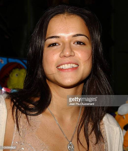 Michelle Rodriguez during Just Cavalli Hosts Flaunt Magazine's 6Year Anniversary Party Arrivals at Private Residence in Los Angeles California United...