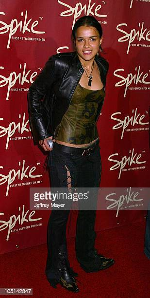 Michelle Rodriguez during Launch of Spike TV at the Playboy Mansion at Playboy Mansion in Los Angeles California United States