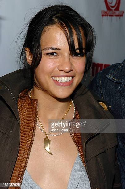 Michelle Rodriguez during Mean Magazine Celebrates Their April/May Issue at Nacional in Los Angeles California United States
