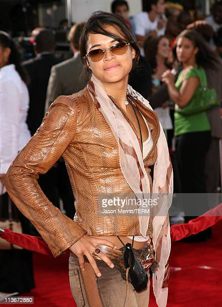 Michelle Rodriguez during 'Miami Vice' World Premiere Arrivals at Mann Village Westwood in Westwood California United States