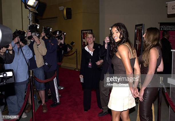 Michelle Rodriguez during 'Resident Evil' Premiere at The Mann Chinette Theater in Los Angeles California United States