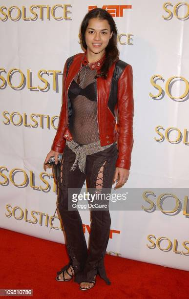 Michelle Rodriguez during Safilo USA Hosts CelebrityStudded Spring 2003 Designer Sunglass Fashion Show Extravaganza and Launch Party for the New...
