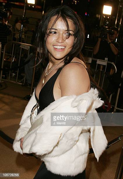 Michelle Rodriguez during Sahara Los Angeles Premiere Arrivals at Grauman's Chinese Theater in Hollywood California United States