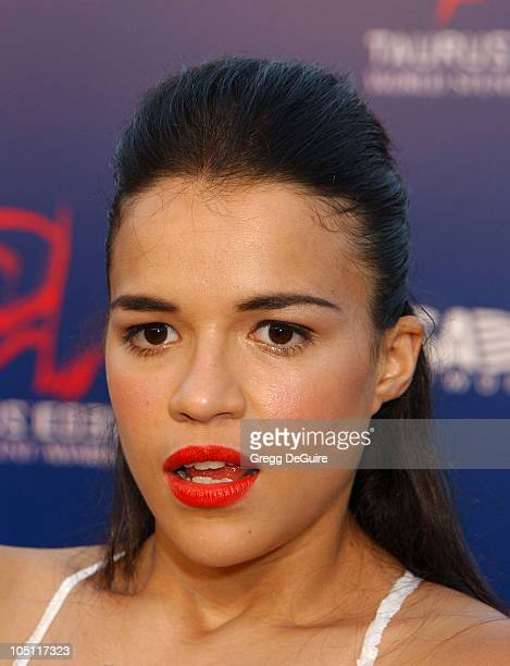 Michelle Rodriguez during The 3rd Annual World Stunt Awards Arrivals at Paramount Studios in Los Angeles California United States